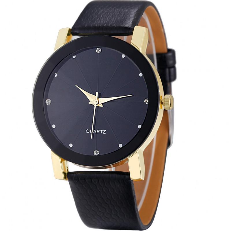 Zegarek skórzany Elegant złoty