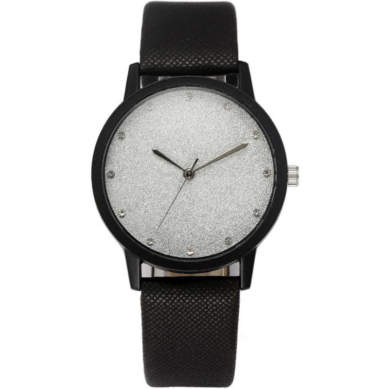 Zegarek skórzany Brokat biały