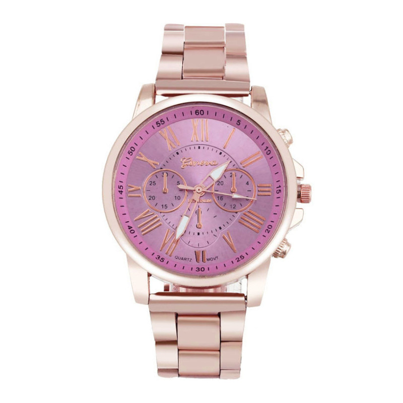 Zegarek bransoleta Corte różowa tarcza