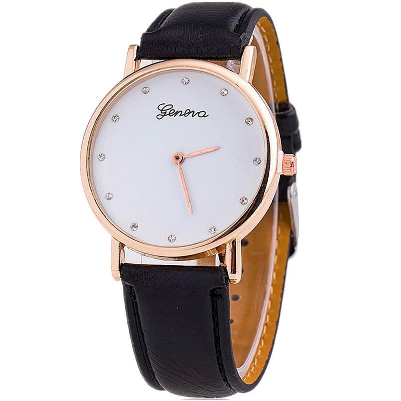 Zegarek skórzany Pisonia czarny