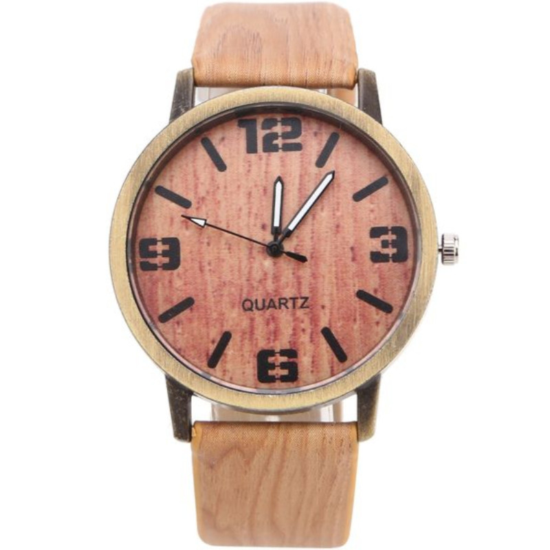 Zegarek skórzany Drwal beżowy
