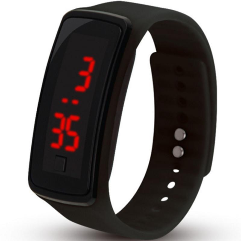 Zegarek silikonowy LCD BAND czarny