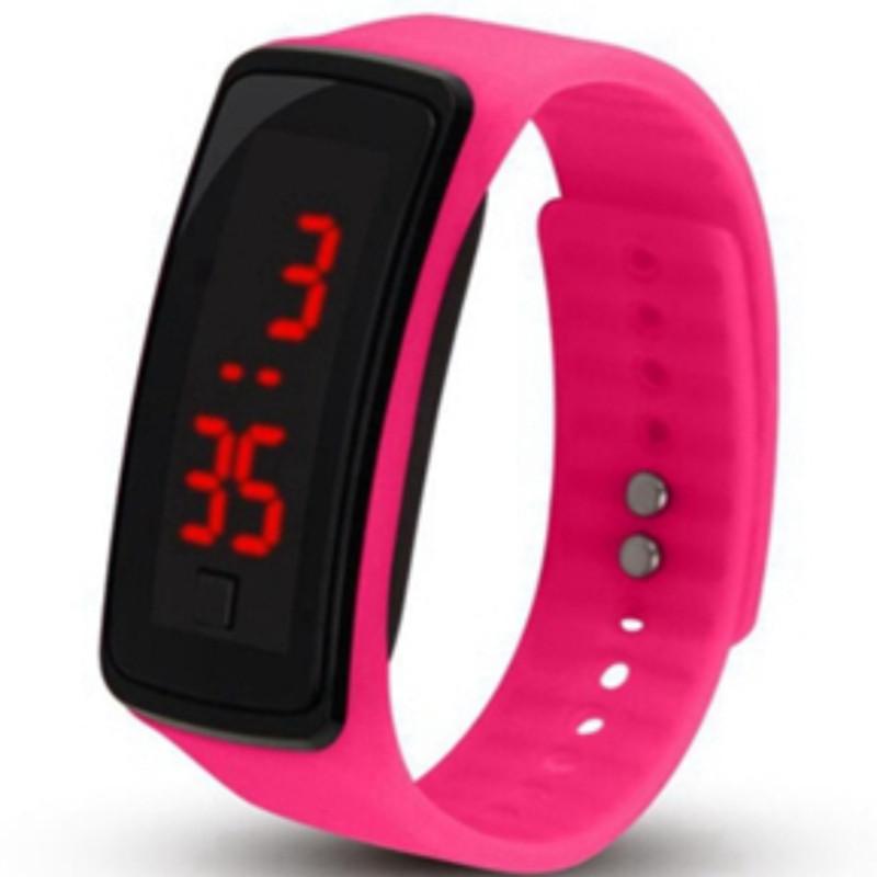 Zegarek silikonowy LCD BAND różowy