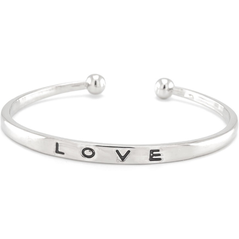 Bransoletka bangle Love srebrna