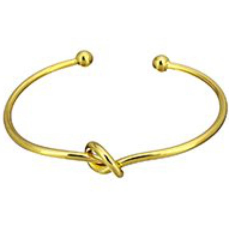 Bransoletka bangle Węzeł złota